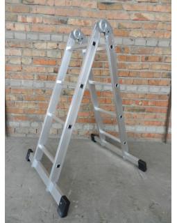 Лестница 2-х секционная шарнирная 2х3 (0,9/1,81м)