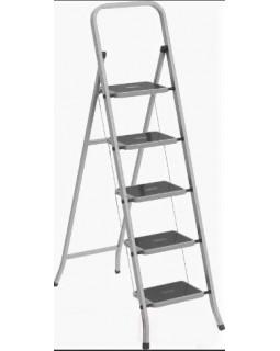 Стремянка 5 широких ступени с антискользящим покрытием (1,15м)