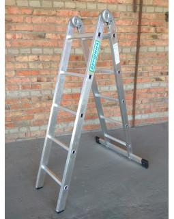 Лестница 2-х секционная шарнирная 2х5 (1,42/2,91м)