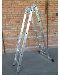 Лестница 2-х секционная шарнирная 2х6 (1,69/3,46м)