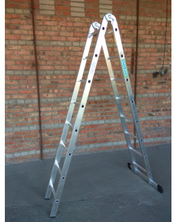 Лестница 2-х секционная шарнирная 2х8 (2,23/4,57м)