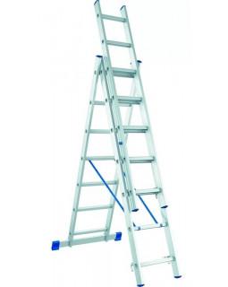 Лестница алюмин. 3х7 (4,28м)