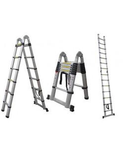 Лестница-стремянка телескопическая шарнирная 1,56м/3,2м